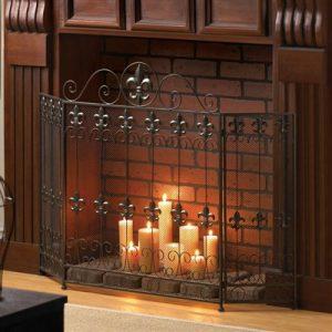 Fleur de Lis Fireplace Screen