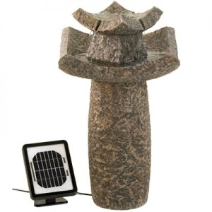 Modern Temple Fountain – Solar or Cord Power