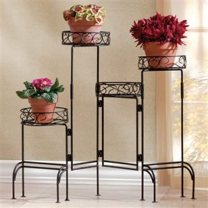 Versatile Foldable 4-Level Plant Stand