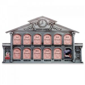 Multi-Year School House Photo Frame