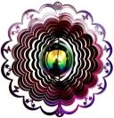 12″ Gazing Ball Butterfly Cut Out Wind Spinner – Raspberry/Purple Starlight (Includes Gazing Ball)