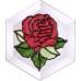Red Rose Suncatcher