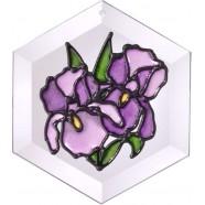 Purple Iris Suncatcher