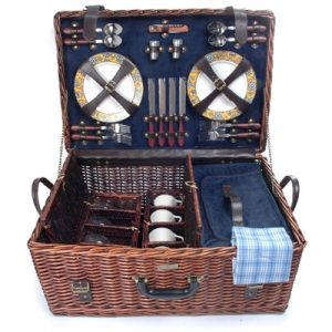 The Riviera Collection Wicker Picnic Basket