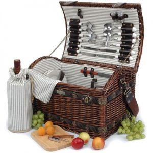 The Couture Collection Picnic Basket with Wine Bag