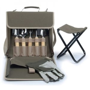 The Terrace Carrier Gardening Tools with Bag and Stool