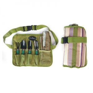 Garden Tools with Canvas Roll up Carry Pack
