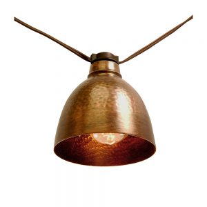 Plug-in Café String Lights – Edison/Bronze Metal 10L