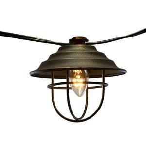 Plug-in Metal Café String Lights 10L
