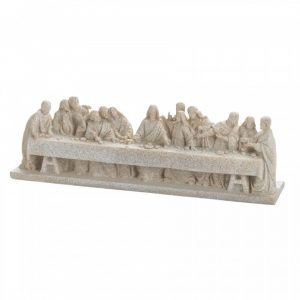 Stone-Look Last Supper Figurine