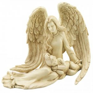 Guardian Angel and Child Figurine
