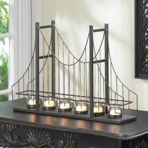 Golden Gate Bridge Wire Candle Holder