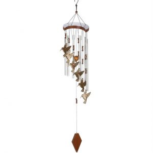Aluminum Hummingbird Wind Chimes