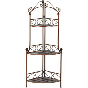 Metal Corner Baker's Rack Shelf Unit