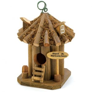 Bed and Breakfast Wood Birdhouse