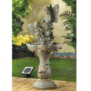 Fairies Water Fountain – Solar or Cord Power