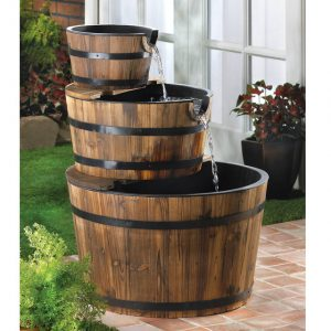 Rustic Triple Barrel Fountain