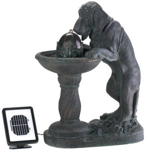 Thirsty Dog Garden Fountain – Solar or Cord Power
