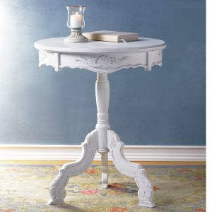Romantic Three-Legged Carved Pedestal Table