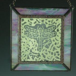 Engraved Dragonfly Mini Window II