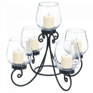 5-Candle Black Iron Centerpiece