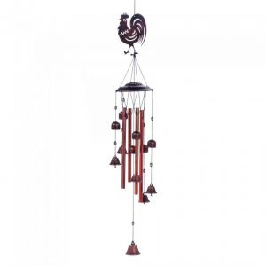 Metal Rooster Wind Chimes with Bells