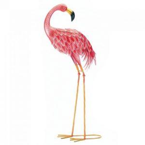 Bright Flamingo Yard Art – Looking Back