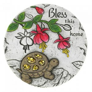 Bless This Home Turtle Cement Garden Stepping Stone