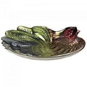 Decorative Glass Rooster Platter