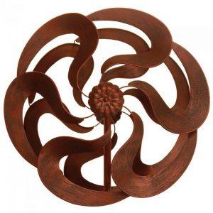 Bronze-Look Flower Garden Windmill Stake – 75 inches
