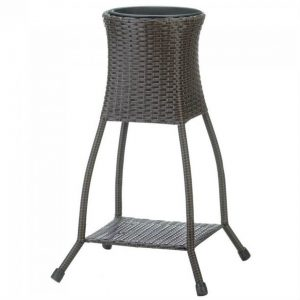 Tuscany Wicker-Look Plant Stand