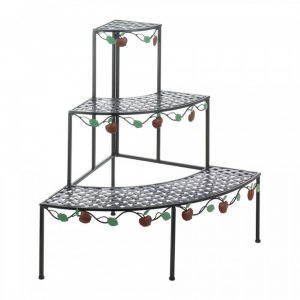 Country Apple Metal Corner Shelf Unit