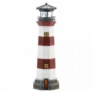 Lighthouse Garden Decor with Solar-Powered Spinning Light