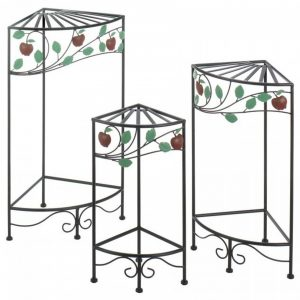 Country Apple Plant Stands – Set of 3