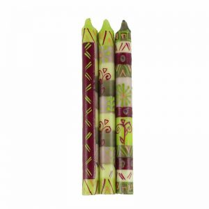 HAND PAINTED CANDLES IN KILEO DESIGN (THREE TAPERS) – NOBUNTO