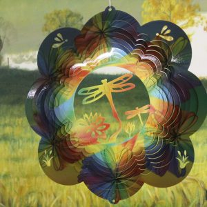 12″ Dragonfly 3D Wind Spinner – TieDye Printed