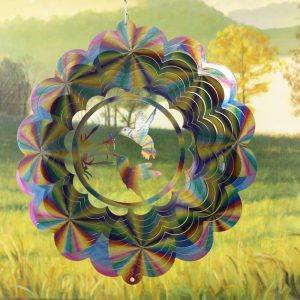12″ Hummingbird Double Wind Spinner – Pastel Printed
