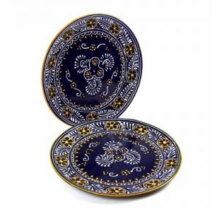 DINNER PLATES 11.8IN – BLUE, SET OF TWO – ENCANTADA