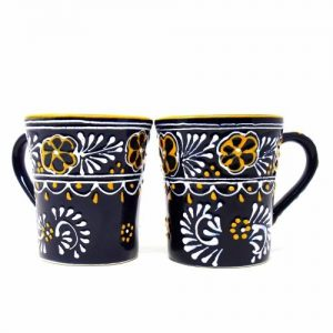 PAIR OF FLARED CUP – BLUE – ENCANTADA
