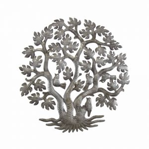 14 INCH 3 TRUNK TREE OF LIFE WALL ART – CROIX DES BOUQUETS