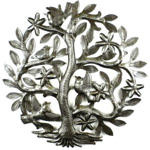 14 INCH TREE OF LIFE WITH BIRDS WALL ART – CROIX DES BOUQUETS