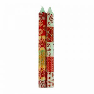HAND PAINTED CANDLES IN OWODUNI DESIGN (PAIR OF TAPERS) – NOBUNTO