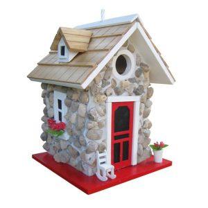 FIELDSTONE GUEST COTTAGE BIRDHOUSE- STONE