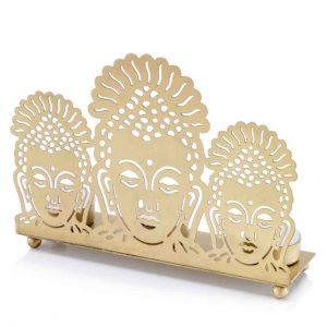 Buddha 3 Lite Candle Holder