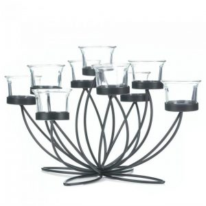 Blooming Flower Nine-Candle Centerpiece