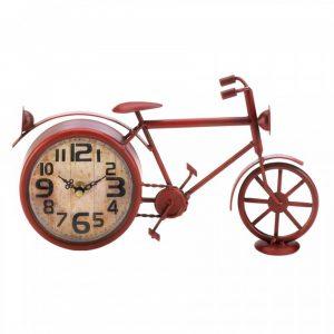Vintage-Look Desk Clock – Red Bicycle