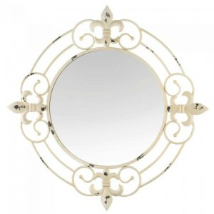 Antique-Look Fleur De Lis Wall Mirror