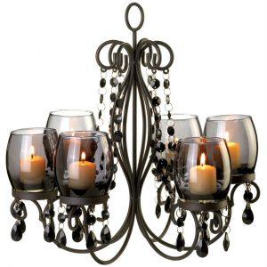 Beaded Candle Chandelier