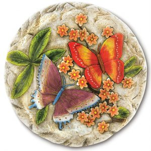 Colorful Cement Butterfly Stepping Stone