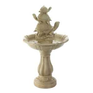 Turtle Trio Stone-Look Garden Fountain